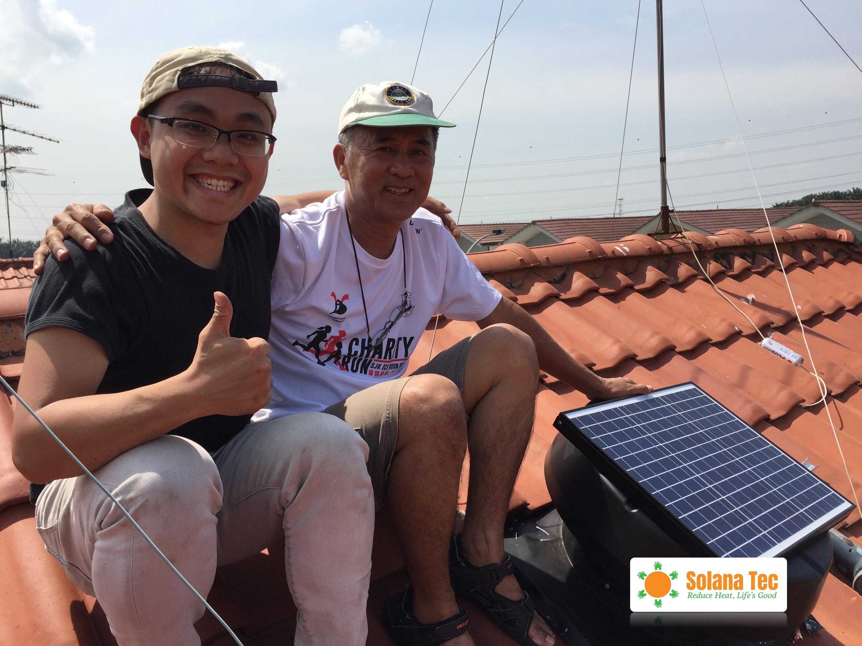 Solar Ventilator Installation at Impian Emas, Johor Malaysia