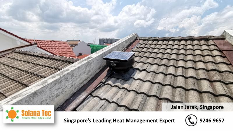 Solar Ventilator Solana Tec Fan Ventilator Roof Stair case ventilation circulation at Jalan Jarak with Electrical