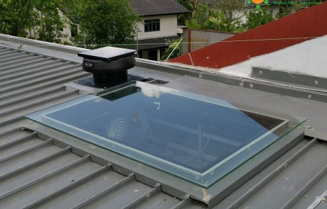 Solar Ventilator Roof Fan Install at Jalan Sejarah Singapore Turbine Ventilation SG Skylight reduce heat